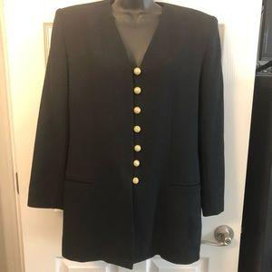 Oleg Cassini wool blazer coat jacket lined size 10